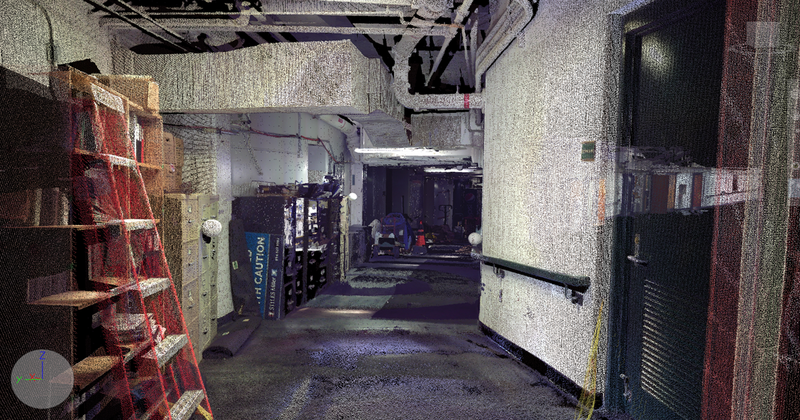 BCPA access hallway - as-built