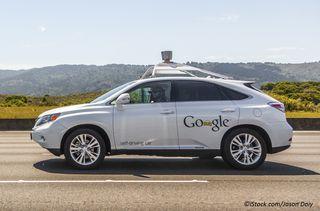 Google self-driving car, cropped